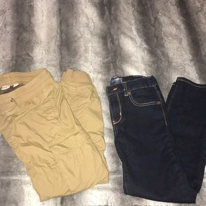 Boys Old Navy Jeans and Gap Khaki Utility Pants